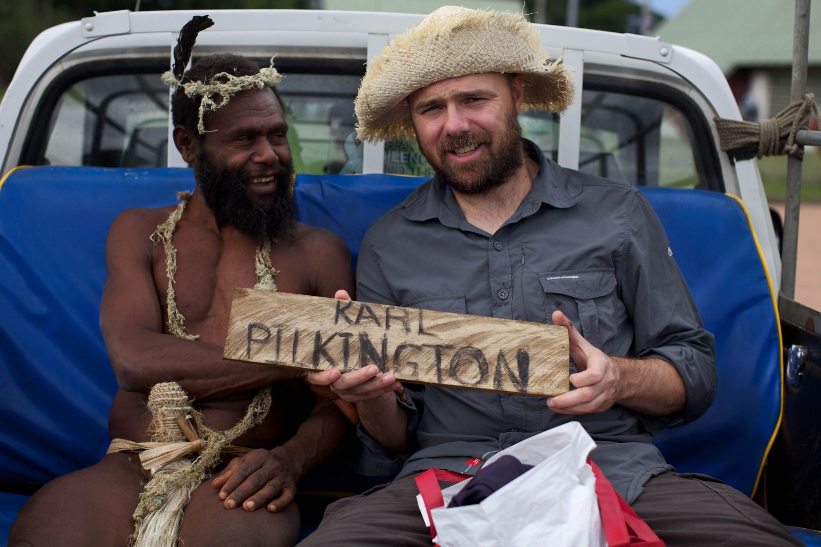 An Idiot Abroad 2 - The Bucket List  Karl Pilkington - South Pacific  © Freddie Claire / Sky1 HD 26.06.2011